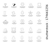 diamond icons set   isolated on ... | Shutterstock .eps vector #174661256