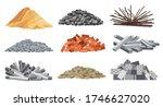 set of heaps building material. ... | Shutterstock .eps vector #1746627020