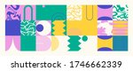 geometric distress aesthetics...   Shutterstock .eps vector #1746662339