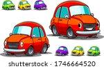 cute cartoon car vector...   Shutterstock .eps vector #1746664520