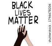 black lives matter. two hands... | Shutterstock .eps vector #1746678206