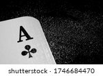 White ace of clubs playing card ...