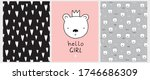 hello girl. cute nursery art... | Shutterstock .eps vector #1746686309