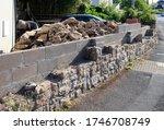 natural stone wall under... | Shutterstock . vector #1746708749