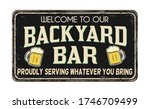 backyard bar vintage rusty...   Shutterstock .eps vector #1746709499