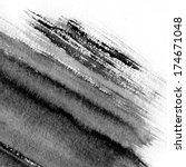 black abstract watercolor macro ... | Shutterstock . vector #174671048