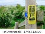 countryside dog walkers warning ... | Shutterstock . vector #1746712100