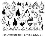 cartoon fire flame. graphic... | Shutterstock .eps vector #1746712373