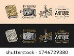 Antique Shop Labels Or Badges....