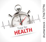 stopwatch   time for health... | Shutterstock .eps vector #174673796