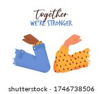 together we are stronger... | Shutterstock .eps vector #1746738506