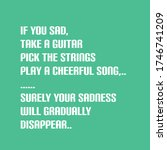 quotes  if you sad  take a...   Shutterstock .eps vector #1746741209