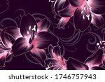vintage luxury floral... | Shutterstock .eps vector #1746757943