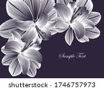 abstract  hand drawn floral... | Shutterstock .eps vector #1746757973