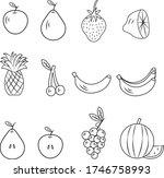 stock vector graphics  fruit...   Shutterstock .eps vector #1746758993