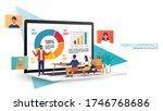 video conference landing.... | Shutterstock .eps vector #1746768686