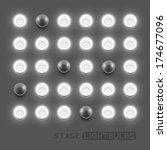 vector stage light bulbs.vector ...   Shutterstock .eps vector #174677096
