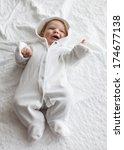 portrait of a beautiful baby | Shutterstock . vector #174677138