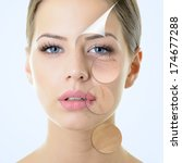 anti aging concept  portrait of ... | Shutterstock . vector #174677288