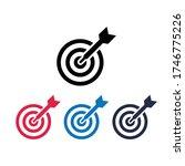 illustration of target icon... | Shutterstock .eps vector #1746775226