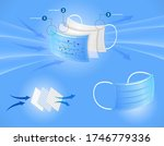 set of three layer surgical... | Shutterstock .eps vector #1746779336