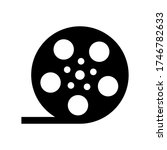 film roll movie reel symbol...