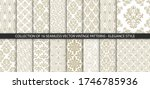 collection of 16 floral vintage ... | Shutterstock .eps vector #1746785936