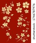 branch of cherry blossom on... | Shutterstock .eps vector #1746787976