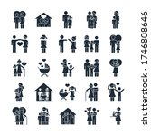 family day  father mother kids... | Shutterstock .eps vector #1746808646