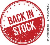back in stock rubber stamp. red ...   Shutterstock .eps vector #1746809660
