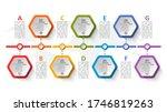 vector abstract 3d paper... | Shutterstock .eps vector #1746819263