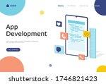 app development vector...
