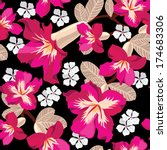 floral seamless pattern with... | Shutterstock . vector #174683306