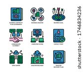 business continuity plan icons... | Shutterstock .eps vector #1746834236