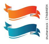banners  ribbons from paper. | Shutterstock .eps vector #174684854