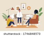a diverse group of characters... | Shutterstock .eps vector #1746848573