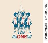 all for one for all vector... | Shutterstock .eps vector #1746850709