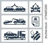 vector breakdown truck and car... | Shutterstock .eps vector #174685283