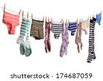 Stock photo colorful laundry on the clothes line 174687059