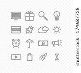set icons two. social media....   Shutterstock .eps vector #174687728