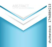 blue and white triangle vector... | Shutterstock .eps vector #1746884213