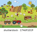 illustration of country... | Shutterstock . vector #174691019