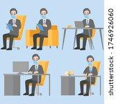 set of businessman character...   Shutterstock .eps vector #1746926060
