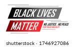 black lives matter banner for... | Shutterstock .eps vector #1746927086