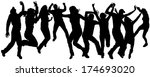 vector silhouettes of people... | Shutterstock .eps vector #174693020
