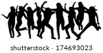vector silhouettes of people... | Shutterstock .eps vector #174693023