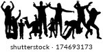 vector silhouettes of people... | Shutterstock .eps vector #174693173