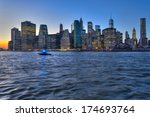 manhattan skyline with brooklyn ... | Shutterstock . vector #174693764