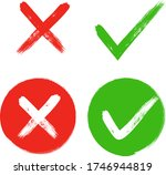 tick and cross sign elements.... | Shutterstock .eps vector #1746944819