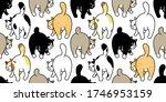 cat seamless pattern kitten... | Shutterstock .eps vector #1746953159